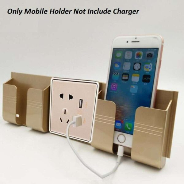 Mobile holder wall mounted stand golden color holding phone